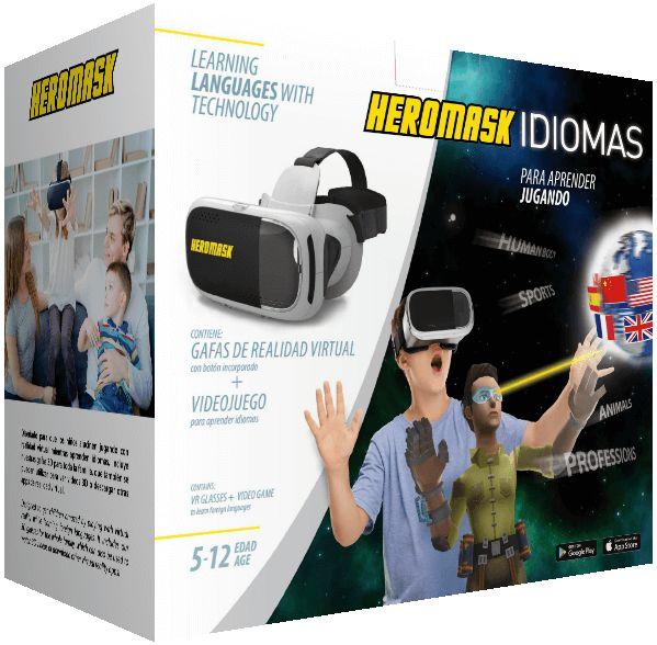 Foto de la caja de Heromask Idiomas, el regalo original para niños 5, 6, 7, 8, 9, 10, 11, 12 años